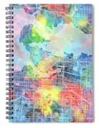 Vancouver Map Watercolor Spiral Notebook