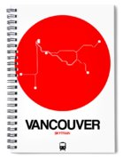 Vancouver Red Subway Map Spiral Notebook