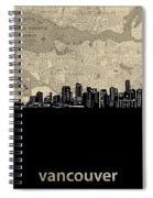 Vancouver Skyline Map Spiral Notebook