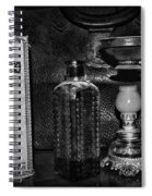 Vapo-cresolene Vaporizer And Bottle Respiratory Remedy Black And White Spiral Notebook