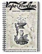 Vapo-cresolene Vaporizer Original Packaging Black And White Spiral Notebook