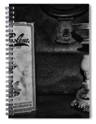 Vapo-cresolene Vaporizer Respiratory Remedy Black And White Spiral Notebook
