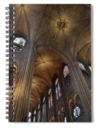 Vaults Of Notre Dame De Paris Before The Fire Of 2019 Spiral Notebook