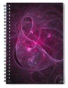 Veiled Pink Spiral Notebook