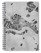 Venice Italy City Map Spiral Notebook