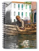 Venice Pause In The Evening Spiral Notebook