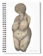 Venus Of Kostenski Spiral Notebook