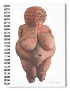 Venus Of Willendorf Spiral Notebook