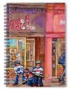 Verdun Montreal Storefront Painting Jessie Et Cie Beaute Candy Nail Shop Hockey Artist C Spandau Art Spiral Notebook