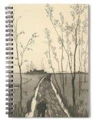 Verfolgung, From The Series Radierte Skizzen Spiral Notebook