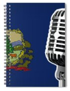 Vermont Flag And Microphone Spiral Notebook