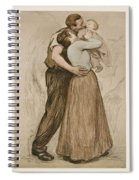 Victor Emile Prouve  French  1858   1943 The Kiss  Le Baiser  1898  Collotype On Wove Paper Spiral Notebook