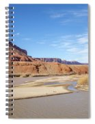 View At Sorrel River Ranch On The Colorado River Near Moab, Utah Spiral Notebook