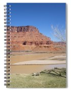 View From A Cabin At Sorrel River Ranch On The Colorado River Ne Spiral Notebook