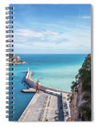 View From Castle Hill To The Sea In Nice Spiral Notebook