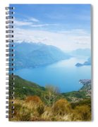 View From Rifugio Menaggio Lake Como Italy Spiral Notebook