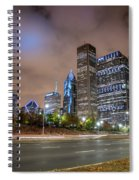 View Of Chicago Skyscrappers With Busy Street In The Foreground Spiral Notebook