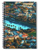 View Of Molteno Reservoir - Cape Town Spiral Notebook