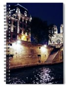 View Of Notre Dame From The Sienne River In Paris, France Spiral Notebook