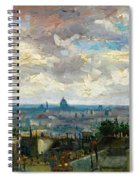 View Of Paris - Digital Remastered Edition Spiral Notebook