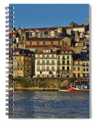 View Of Porto And Douro River Spiral Notebook