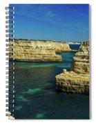 View Of Praia Deserta In Algarve Spiral Notebook