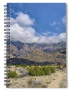 View Of Sandia Mountain Spiral Notebook