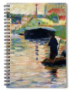 View Of The Seine - Digital Remastered Edition Spiral Notebook
