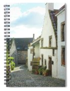 village cobbled lane in Culross Spiral Notebook