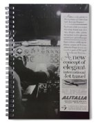 Vintage Alitalia Airline Advertisement Spiral Notebook
