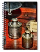 Vintage Apothecary Pharmacist Weights And Scale Spiral Notebook