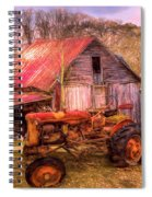 Vintage At The Farm Watercolors Painting Spiral Notebook