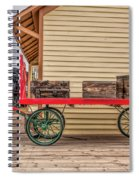 Vintage Baggage Cart Spiral Notebook