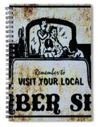 Vintage Barber Sign From The 1950s Spiral Notebook
