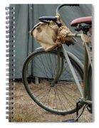 Vintage Bicycle World War II  Spiral Notebook