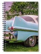 Vintage Blue Caddy American Vintage Car Spiral Notebook