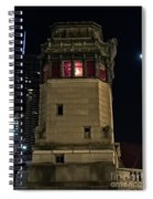 Vintage Chicago Bridge Tower At Night Spiral Notebook