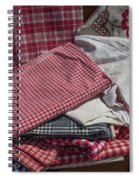Vintage French Textiles Spiral Notebook