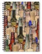 Vintage Glass Bottles Collage Spiral Notebook