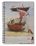 Vintage Haig And Haig Whiskey Advertisement Spiral Notebook