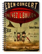 Vintage Hot Air Balloon Spiral Notebook