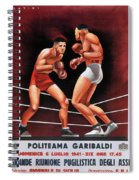 Vintage Italian Boxing Poster Spiral Notebook