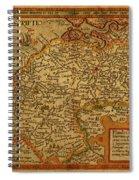 Vintage Map Of Belgium And Flanders Spiral Notebook
