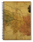Vintage Map Of Bengal Spiral Notebook