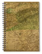 Vintage Map Of North Africa Including Morocco Algeria And Tunisia 1901 Spiral Notebook