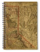 Vintage Map Of Northern California Spiral Notebook