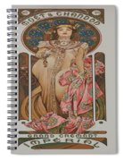 Vintage Poster - Champagne Spiral Notebook