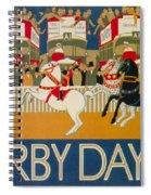 Vintage Poster - Derby Day Spiral Notebook