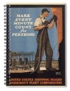 Vintage Poster - Make Every Minute Count Spiral Notebook