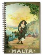 Vintage Poster - Malta Spiral Notebook